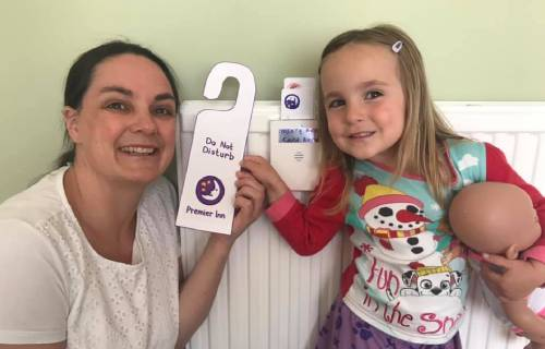 Manchester family makes their own Premier Inn hotel at home