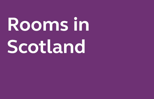 Selected rooms in Scotland