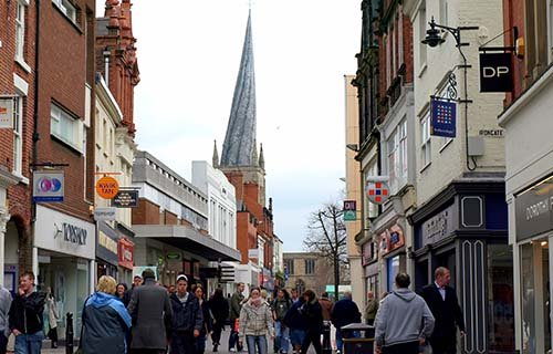 Shopping in Chesterfield