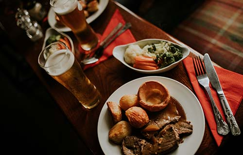 Pub roast in Corby