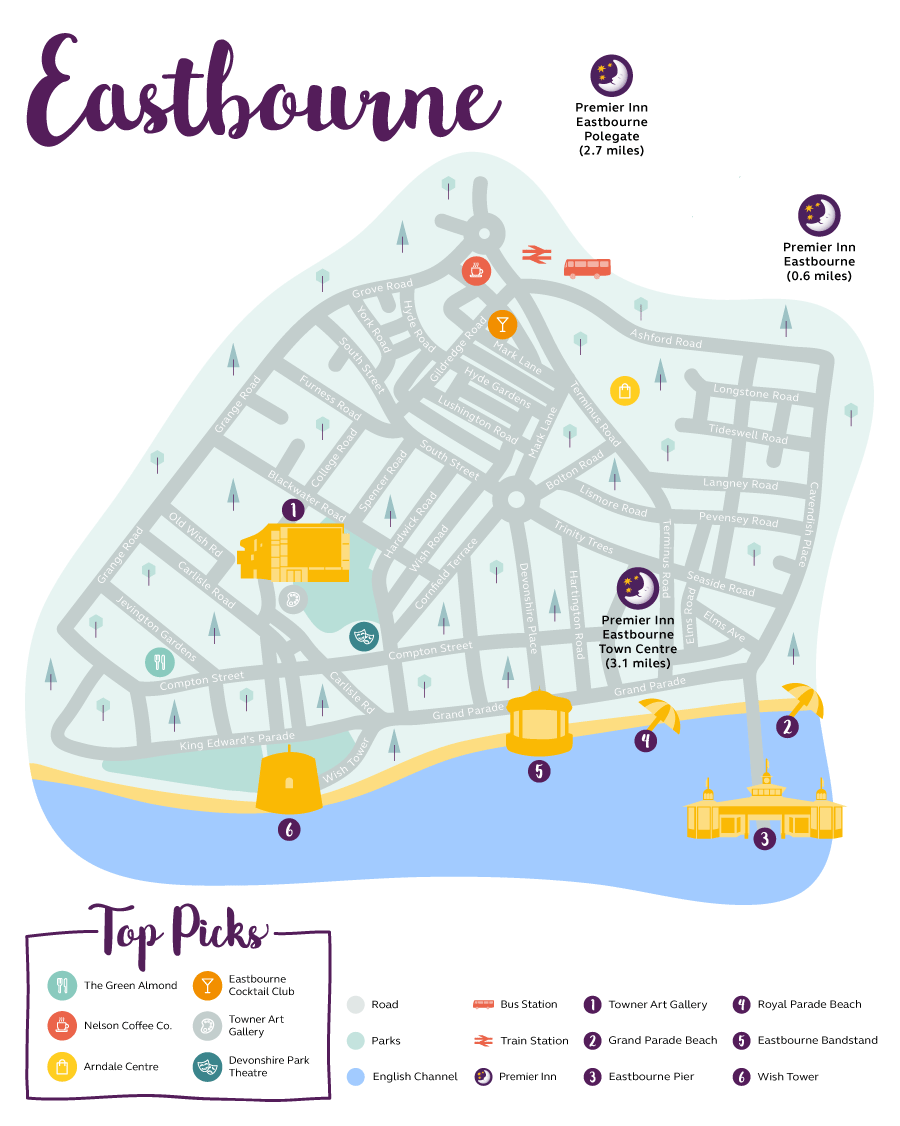 Eastbourne Map Premier Inn