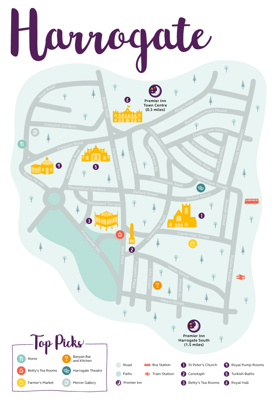 Premier Inn map of Harrogate