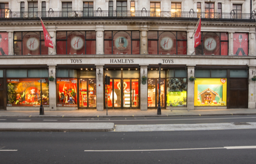 Hamleys shop front