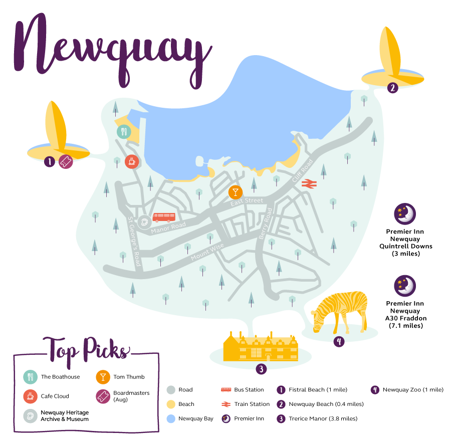 Newquay Map