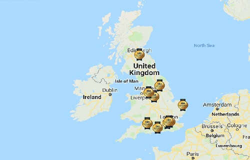 Interactive map of the nation's favourite Christmas Markets