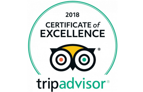 Certificate of Excellence, TripAdvisor 2018