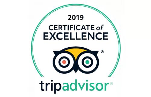 Certificate of Excellence, TripAdvisor 2019