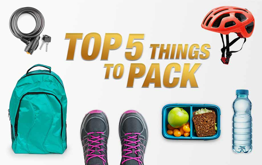Top 5 things to pack