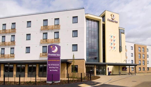 View of Premier Inn Cambridge hotel from the outside