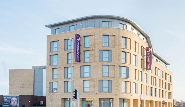 Exterior of Premier Inn Cambridge City East
