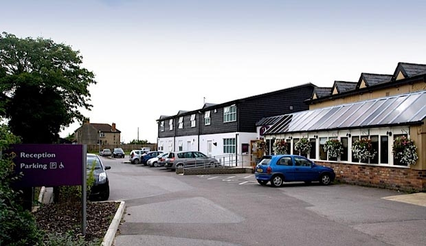 Car park at Premier Inn Hotel Cambridge North (Girton)
