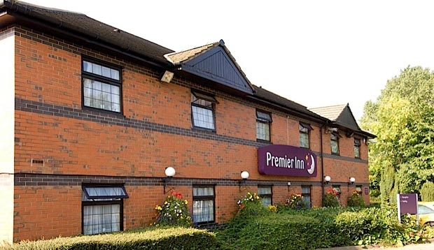 Side view of Premier Inn Cannock South hotel