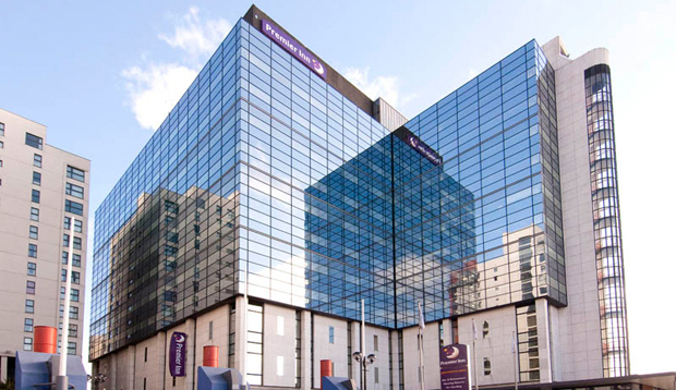 Exterior of Premier Inn Cardiff City Centre