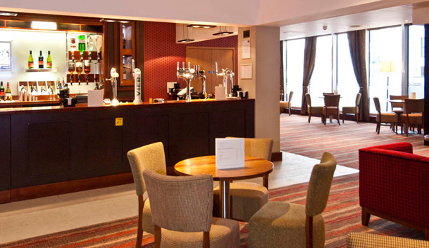 Bar area at Premier Inn Cardiff City Centre