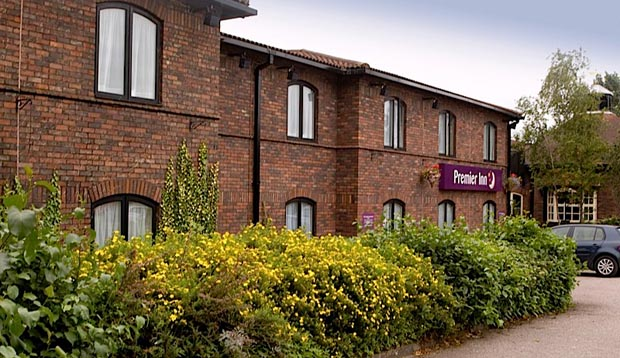 Plants outside the windows of Premier Inn Carlisle Central North hotel