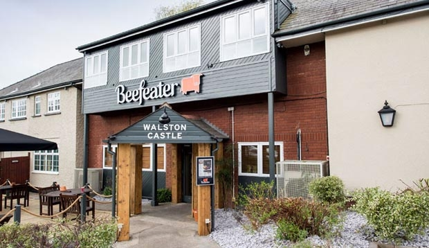 Exterior of Beefeater restaurant at Premier Inn Cardiff West