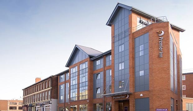 Exterior of Premier Inn Hotel Chester City Centre