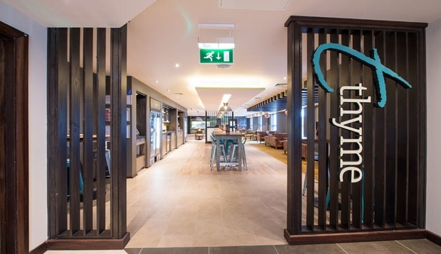 Entrance to Thyme restaurant at Premier Inn Chelmsford City Centre