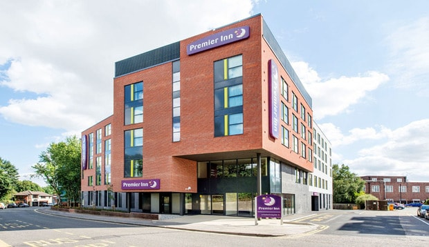 Exterior of Premier Inn Chelmsford City Centre