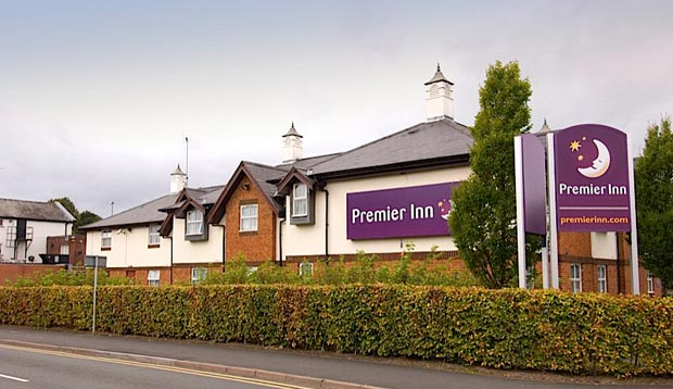 Exterior of Premier Inn Hotel Chester Central North