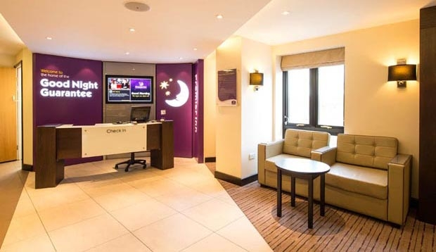 Reception area at Premier Inn Chingford hotel