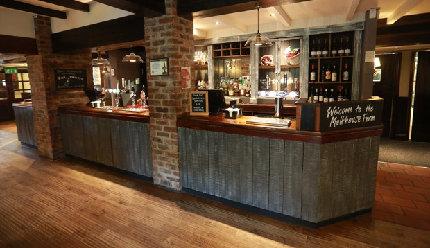 Bar area Premier Inn Hotel Chorley North