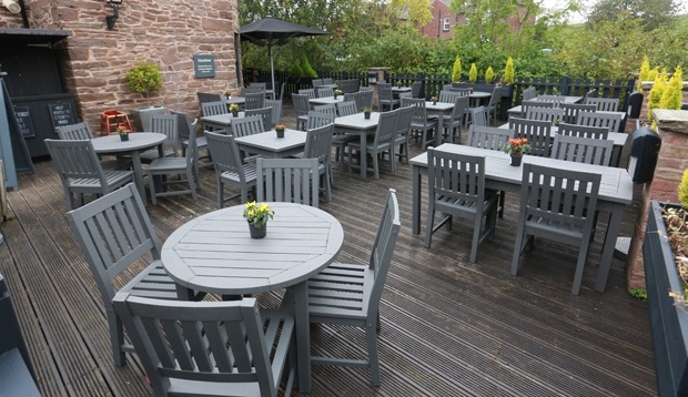 Restaurant area at Premier Inn Hotel Chorley North