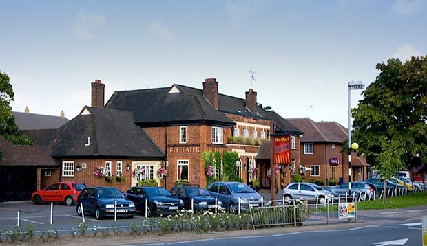Exterior of Beefeater restaurant at Premier Inn Hotel Colchester Cowdray Avenue (A133)