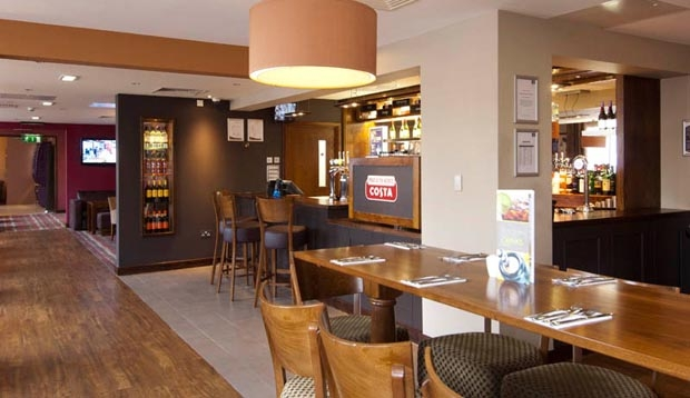 Restaurant at Premier Inn Coventry hotel