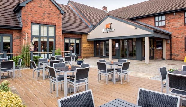 Exterior of Beefeater restaurant at Premier Inn Crewe West hotel