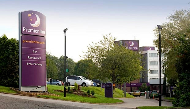 Exterior of Premier Inn Cardiff North