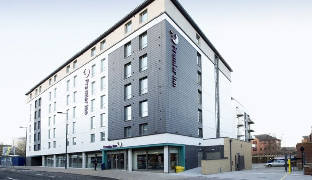 Exterior of Premier Inn Derby City Centre (Cathedral Quarter)