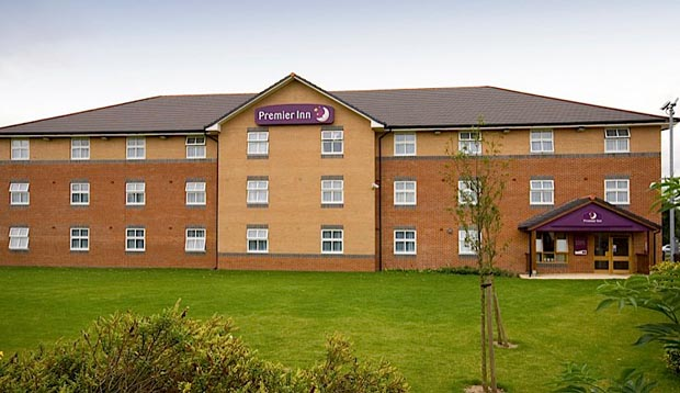 Exterior of Premier Inn Doncaster Central East showing surrounding area
