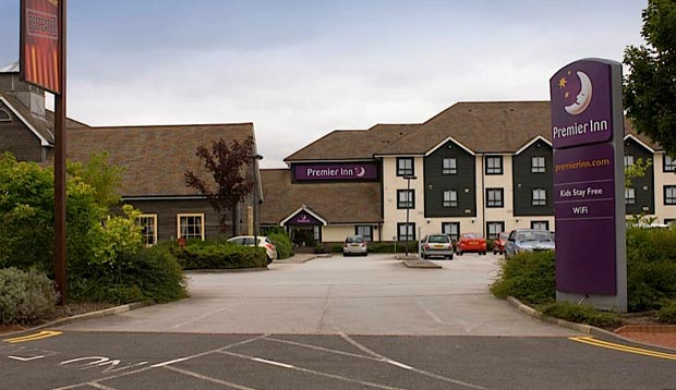 Exterior of Premier Inn Doncaster Lakeside showing surrounding area