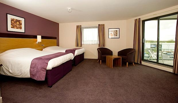 Family room bedroom at Premier Inn Dumfries