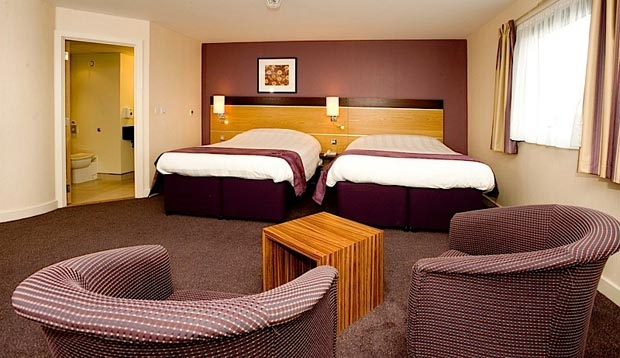 Twin room at Premier Inn Dumfries