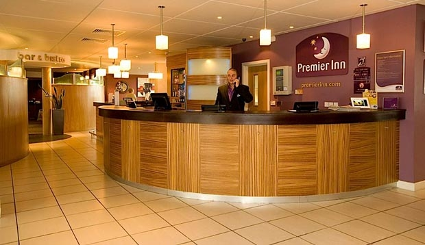 Reception at Premier Inn Dumfries