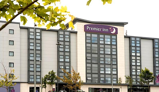 Exterior of Premier Inn Dumfries
