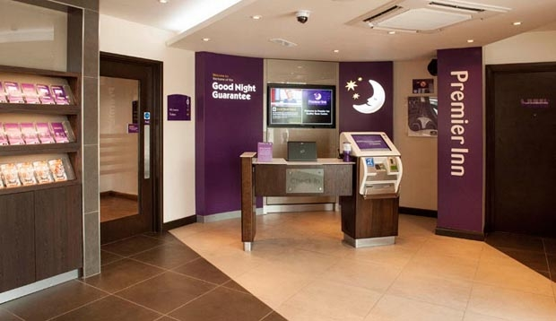 Reception at Premier Inn Dudley Town Centre