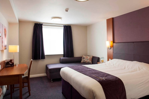Bedroom at Premier Inn Dudley Town Centre