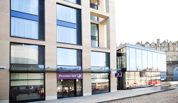 Exterior of Premier Inn Edinburgh City Centre Royal Mile
