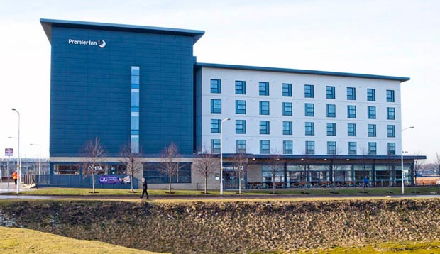 Exterior of Premier Inn Edinburgh Park (The Gyle)