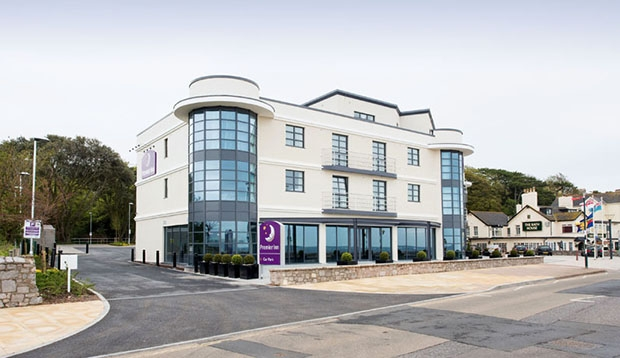 Exterior of Premier Inn Exmouth Seafront