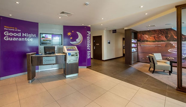Reception at Premier Inn Exmouth Seafront