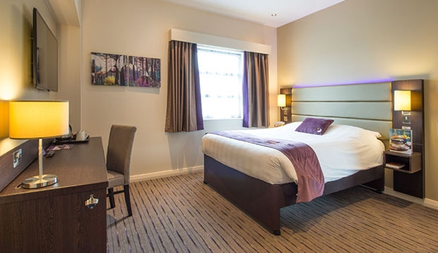 Double room at Premier Inn Exmouth Seafront