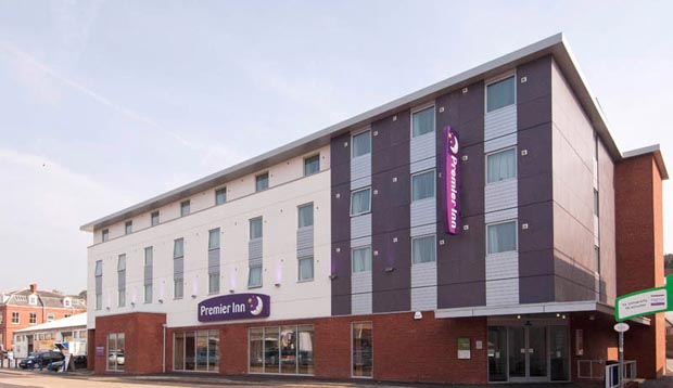 Exterior at Premier Inn Exeter Central St Davids