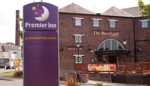 Exterior at Premier Inn Falkirk Central