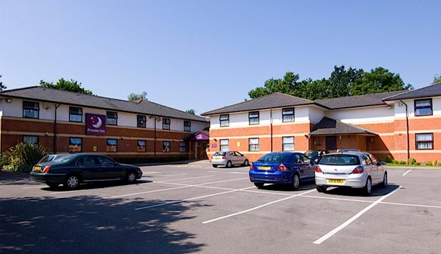 Car park at Premier Inn Fareham