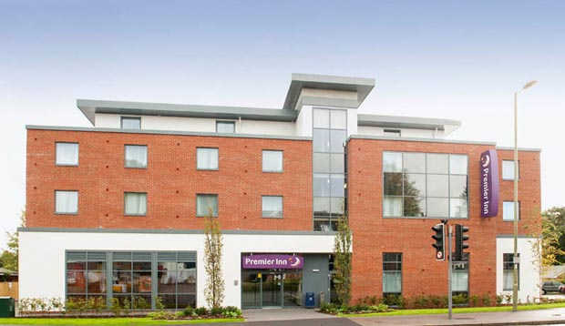 Exterior of Premier Inn Hotel Fleet