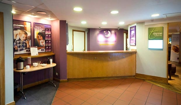 Reception area at Premier Inn Glasgow Airport